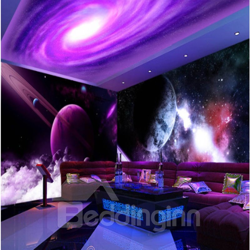 Purple Universe 3D Waterproof and Eco-friendly Ceiling/ Wall Murals