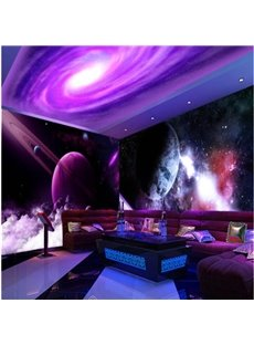 Purple Universe 3D Waterproof Ceiling/ Wall Murals