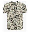 Fashion Round Neck Dollar Pattern 3D Painted T-Shirt