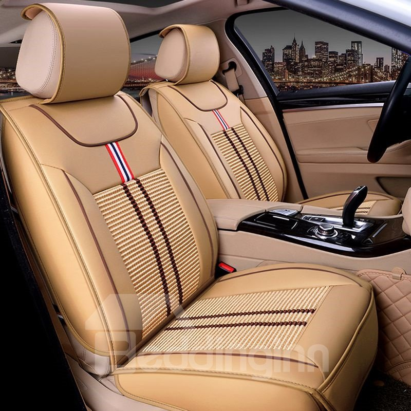 Permeable Ice Silk And Rayon Cost-Effective Universal Car Seat Covers