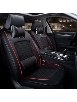 Luxurious Solid Ice Silk And Rayon Durable Car Seat Covers