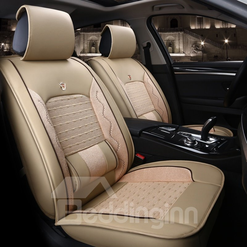 Business Genuine Leather Textured Rubbing Car Seat Covers