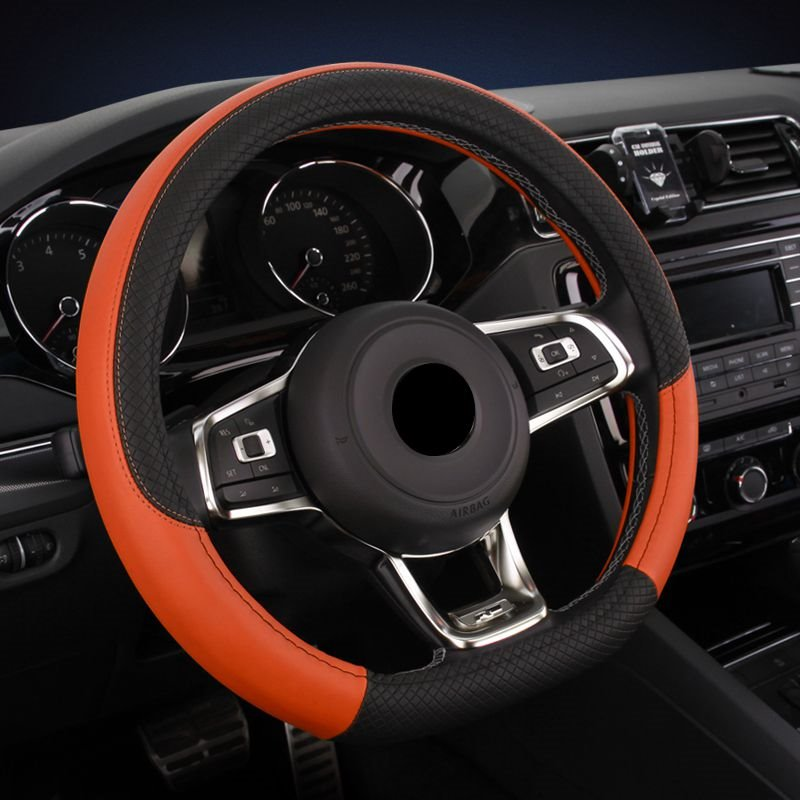 Permeability Microfiber Leather Cost-Effective Steering Wheel Cover