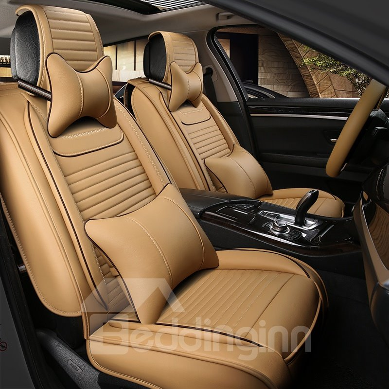 Rubbing Genuine Leather Luxury Durable Solid Car Seat Covers