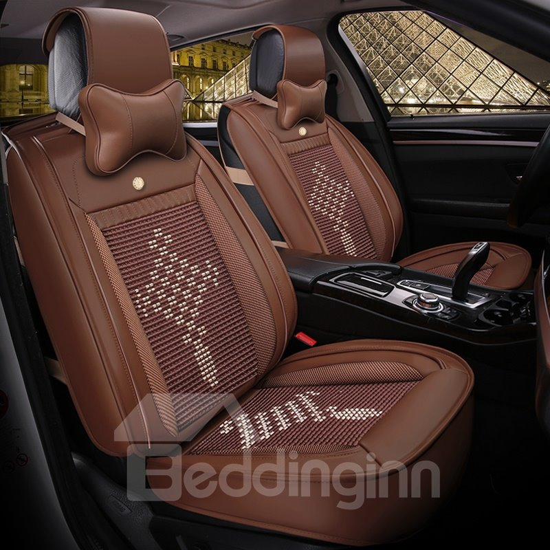 Cozy Permeability Flax And Natural Fibers Pattern Car Seat Covers