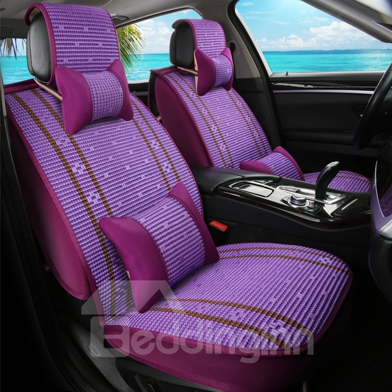 Cozy Permeability Ice Silk And Rayon Luxury Car Seat Covers