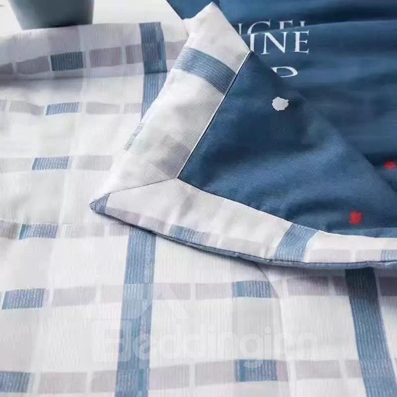 Simple Design Navy Lightweight Cotton Air Conditioner Quilt