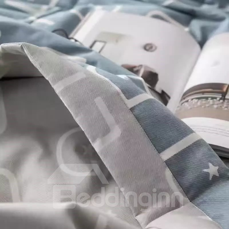 Concise Design Gray Cotton Air Conditioner Quilt