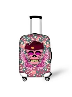 Stunning Pink Skull Pattern 3D Painted Luggage Cover