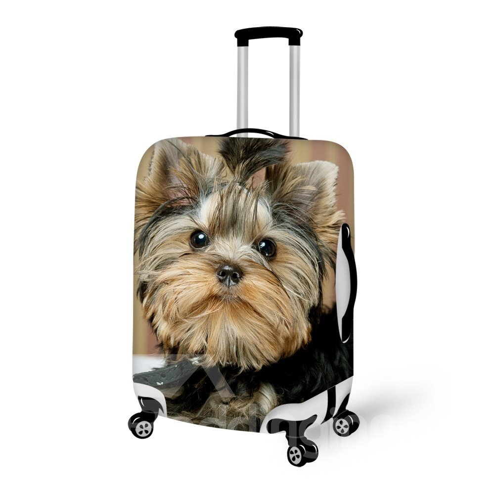 Sparking Dog Face Pattern 3D Painted Luggage Cover