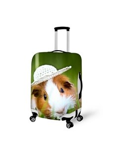 Bright Mouse With Hat Pattern 3D Painted Luggage Cover