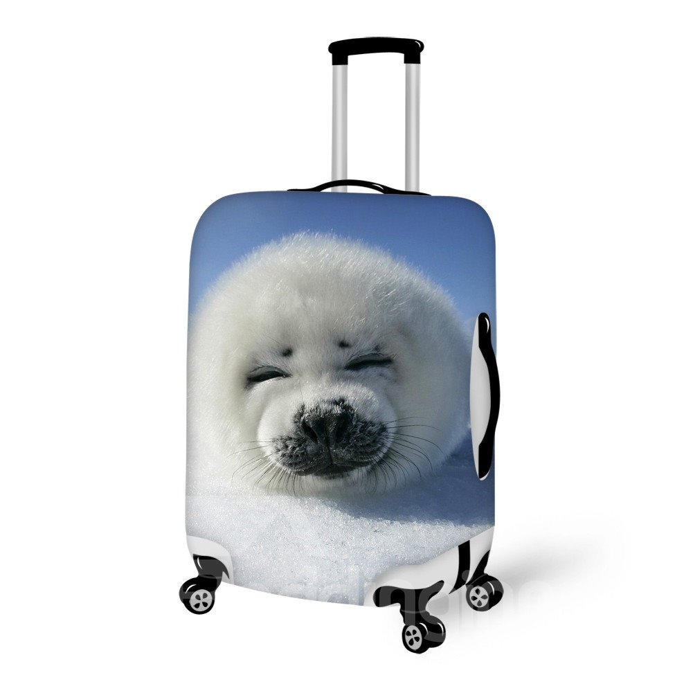 Super Adorable Baby Harp Seal Pattern 3D Painted Luggage Cover