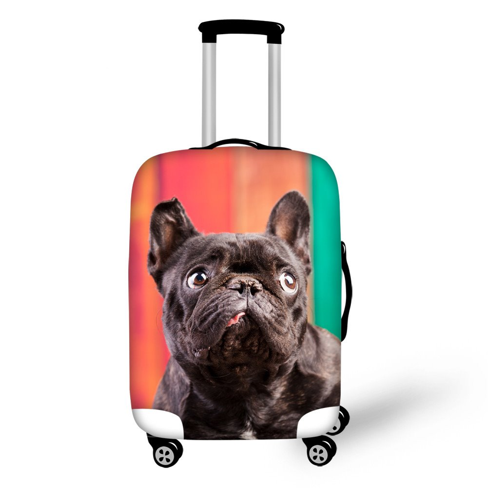 Bright Shining Dog Pattern 3D Painted Luggage Cover