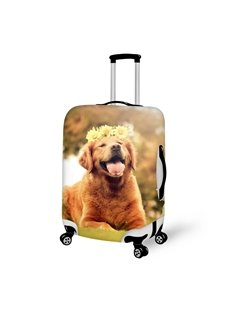 Bright Dog With Garland Pattern 3D Painted Luggage Cover