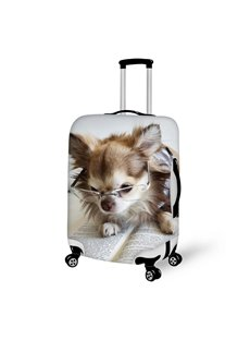 Reading Dog Pattern 3D Painted Luggage Cover