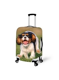 Lively Running Doggy Pattern 3D Painted Luggage Cover