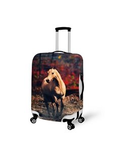 Elegant Running House Pattern 3D Painted Luggage Cover