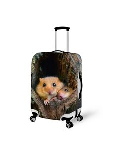 Endearing Couple Mouse Pattern 3D Painted Luggage Cover