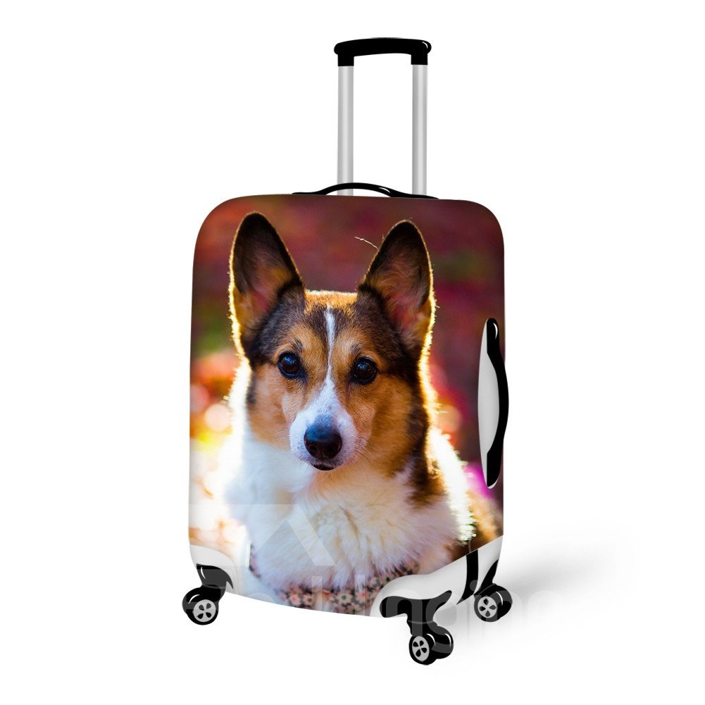 Wonderful Dog Pattern 3D Painted Luggage Cover