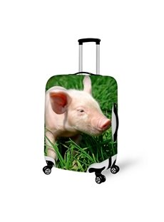 Super Lovely Piglet on Grass Pattern 3D Painted Luggage Cover