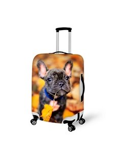 Lovely Dog And Leaves Pattern 3D Painted Luggage Cover