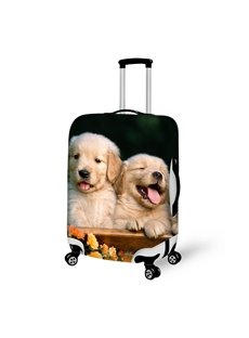 Charming Puppy Dog Pattern 3D Painted Luggage Cover