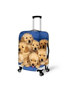 Creative Puppy Dog Pattern 3D Painted Luggage Cover