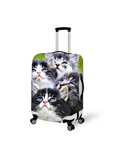 Super Cute Kitten Pattern 3D Painted Luggage Cover