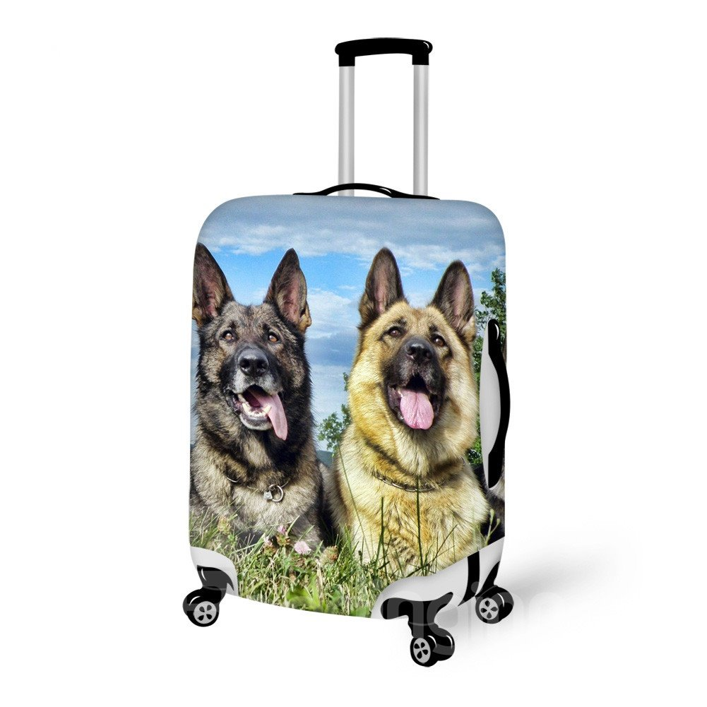 Popular Dog Pattern 3D Painted Luggage Cover