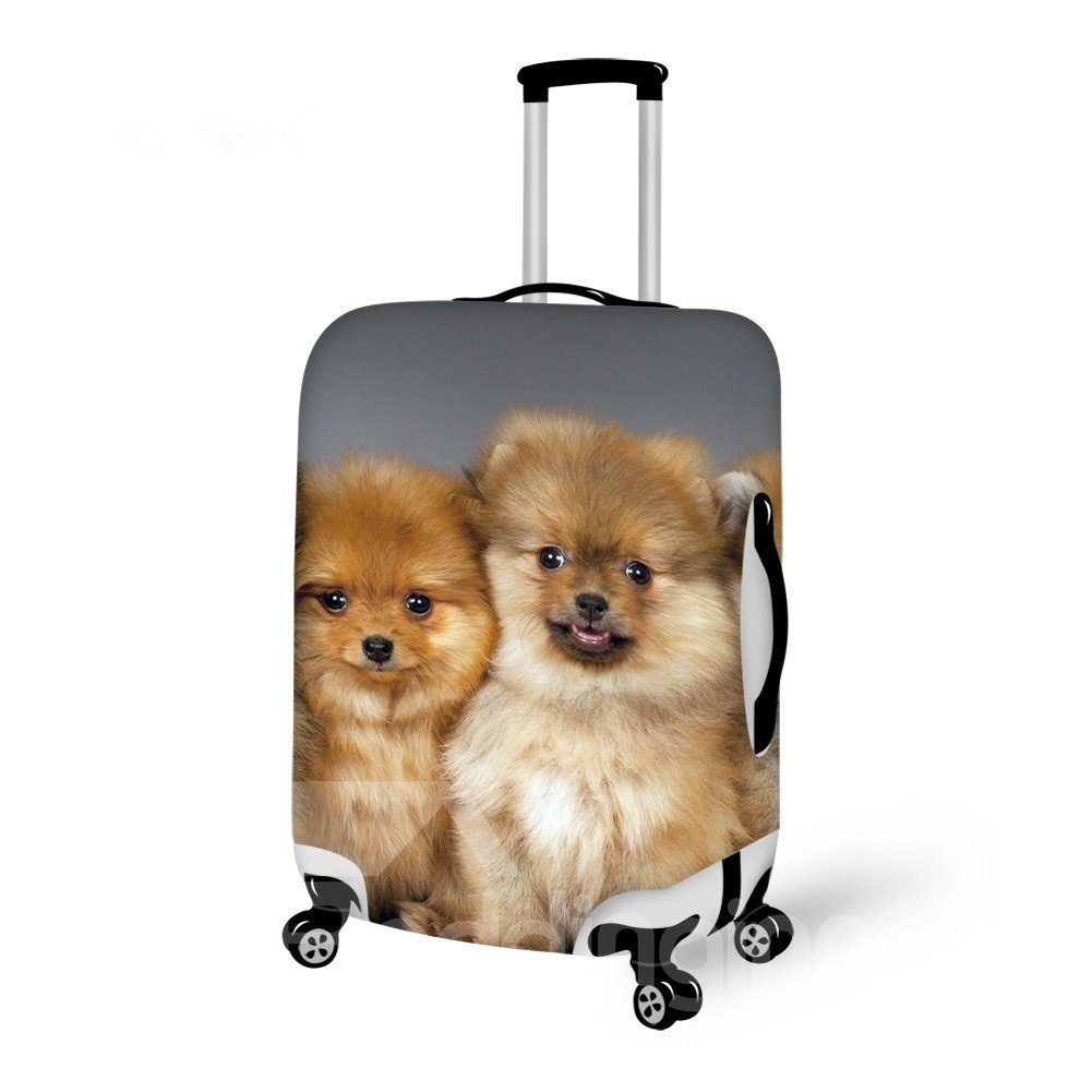 Cute Doggy Pattern 3D Painted Luggage Cover