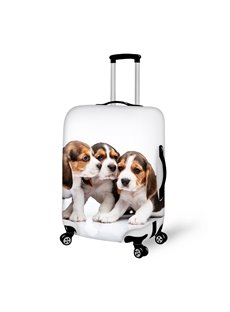 Cuddly Puppy Dog Pattern 3D Painted Luggage Cover