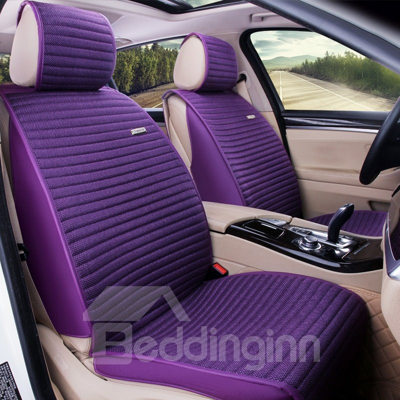Simple And Low Key Casual Design Stripes Universal Car Seat Covers