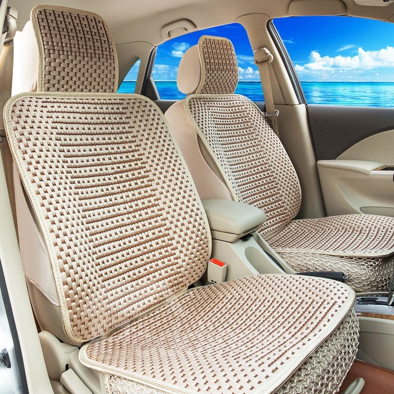 Permeability No Electrostatic Cozy Textured Ice Silk And Rayon Economic Car Seat Cover