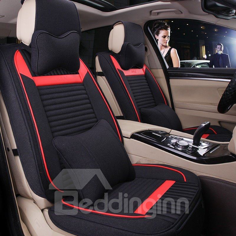 Cozy Permeability Rubbing Textured Flax And Natural Fibers Cost-Effective Car Seat Cover