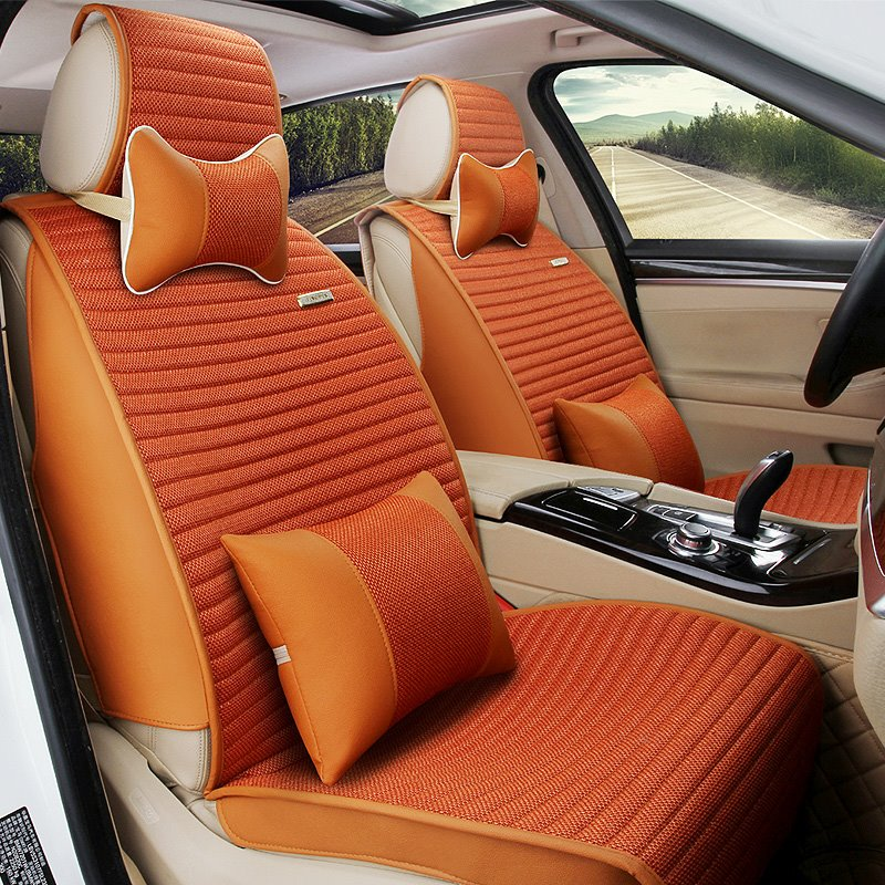 Three-dimensional Permeability Environmental Protection Rubbing Textured Microfiber Leather Car Seat Cover