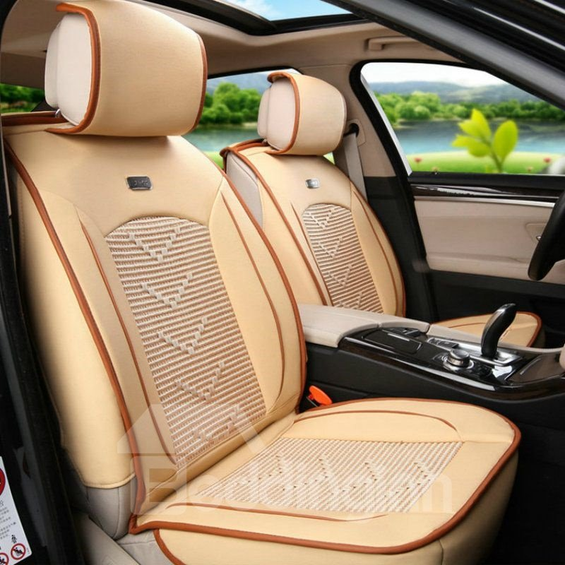 Cozy Stable Quality Durable In Use Ice Silk And Rayon Economic Car Seat Cover