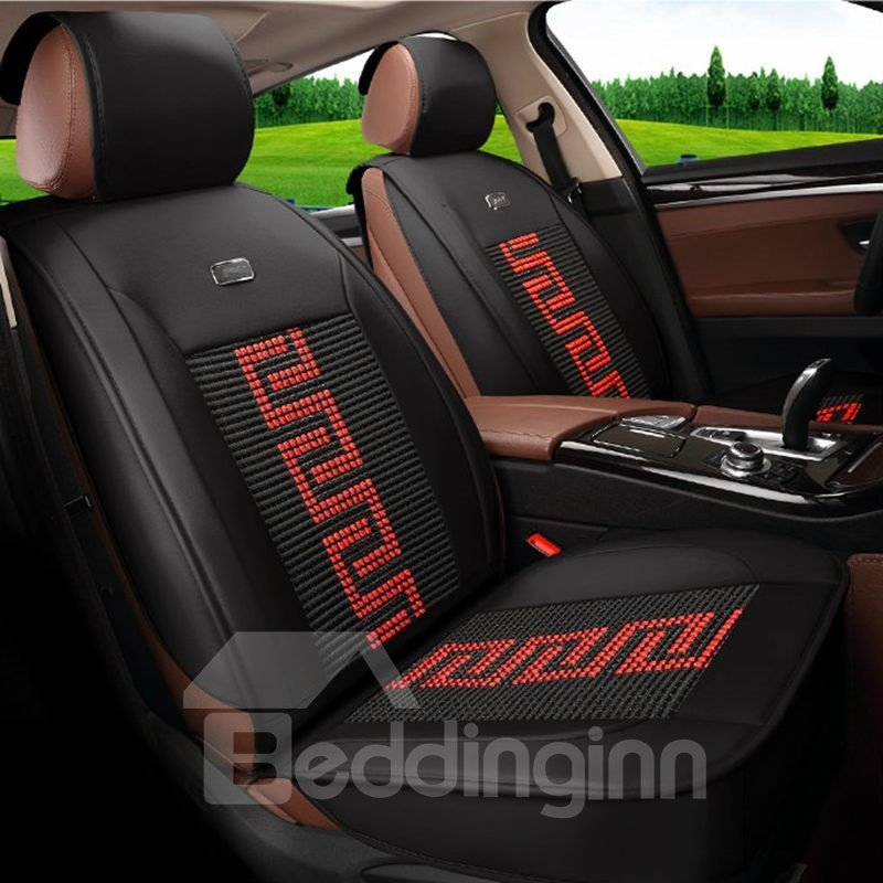 Printing Durable In Use Ice Silk And Rayon Economic Car Seat Cover