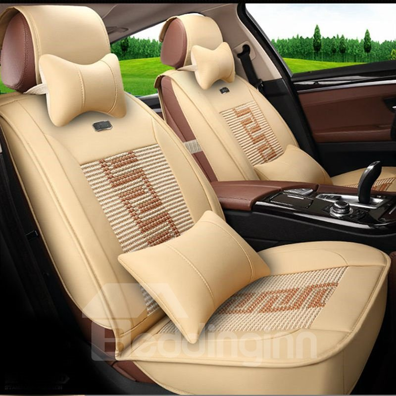 Printing Durable In Use Ice Silk And Rayon Luxurious Car Seat Cover