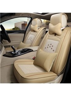 Cozy Finely Processed Ice Silk And Rayon Luxurious Car Seat Cover