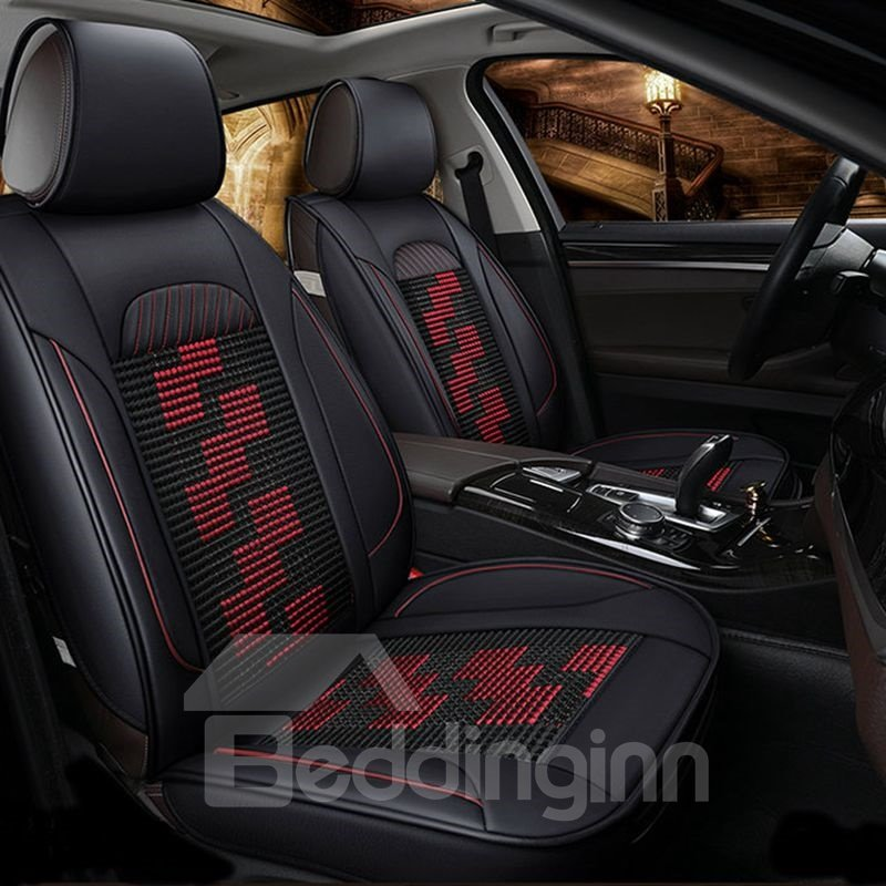 Pattern Permeability Ice Silk And Rayon Universal Economic Car Seat Cover