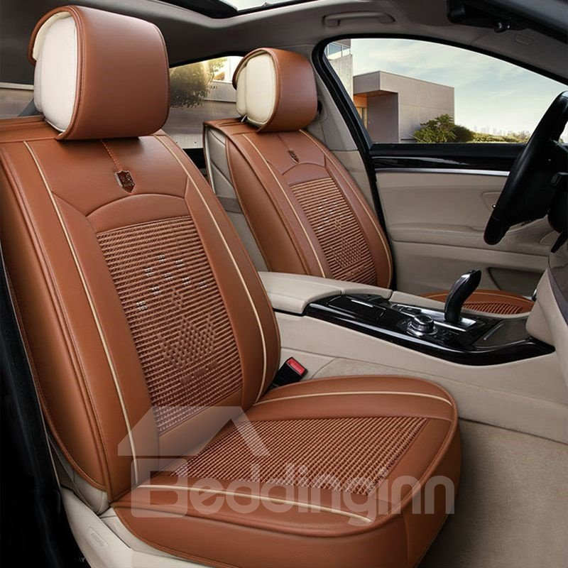 Cozy Finely Processed Ice Silk And Rayon Economic Car Seat Cover