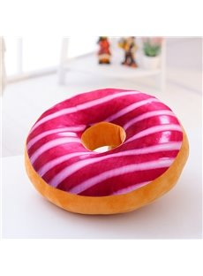 Round-shaped Donut Design Pink PlushThrow Pillow