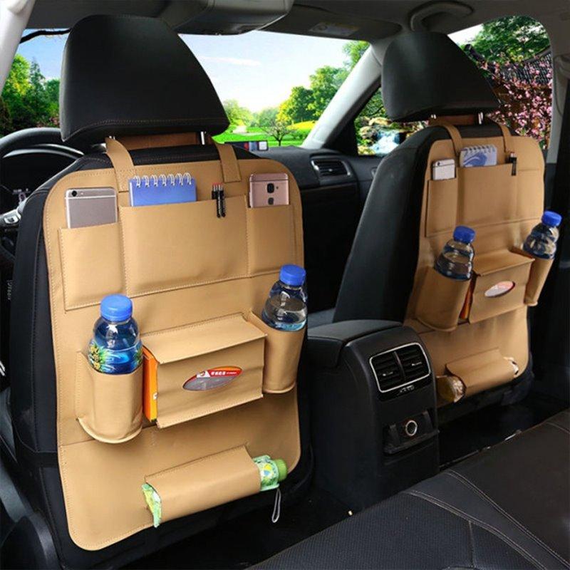 Economic Simple No Electrostatic Genuine Leather Car Organizer