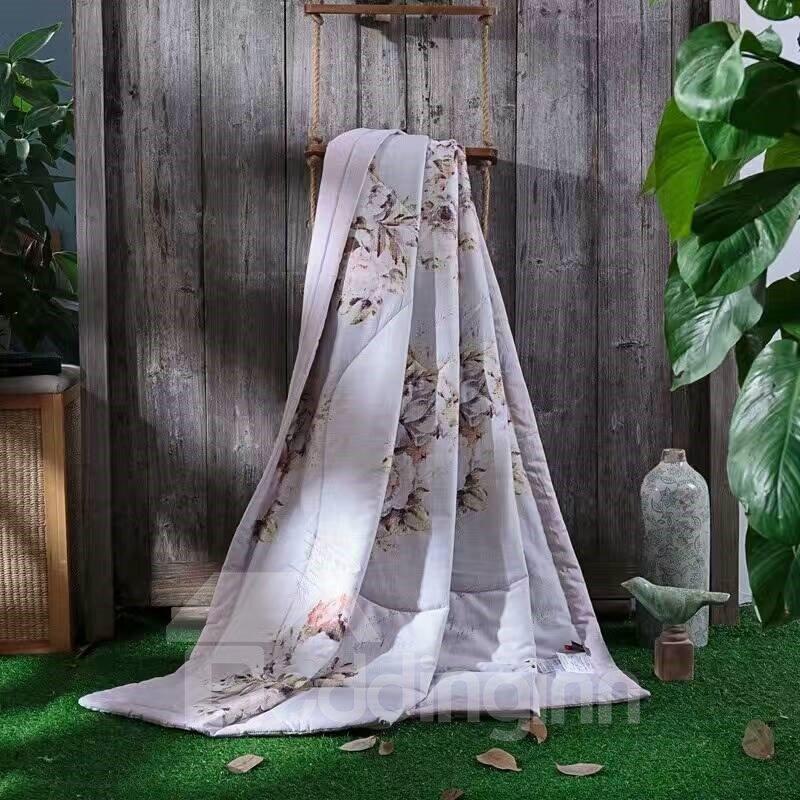 Cherry Blossoms Reactive Printing Tencel Lightweight Quilt