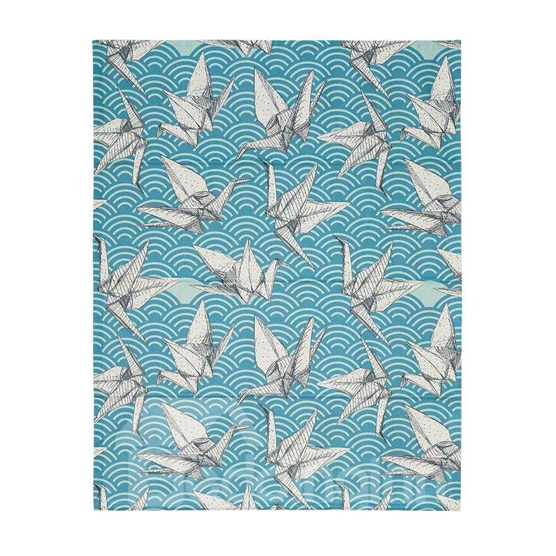 Paper Cranes Printing Cotton and Linen Blending Roman Shades