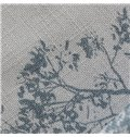 Concise Grey Tree Printing Lining and Sheer Custom Curtain Sets