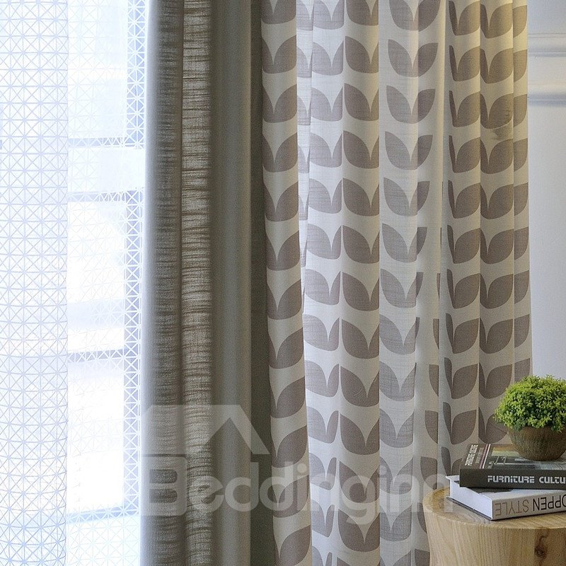 Contemporary Designer Printing Stitching Cloth Custom Curtain