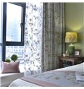 Country Style Cotton and Linen Blending Floral Printing Custom Curtain