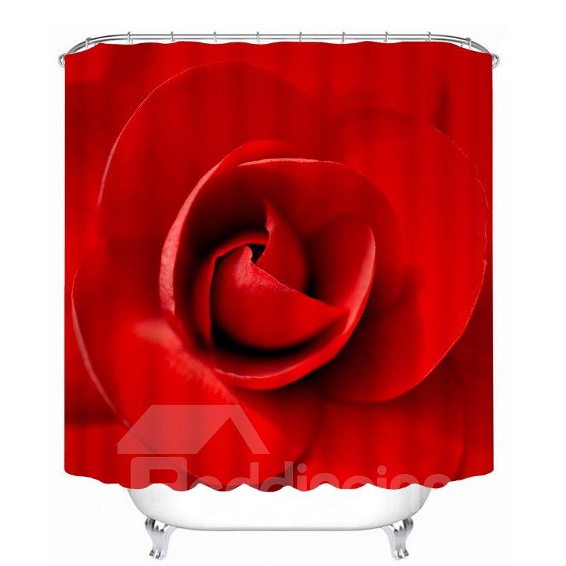 Admirable Vivid Red Rose 3D Printed Bathroom Waterproof Shower Curtain Download Free Architecture Designs Xerocsunscenecom