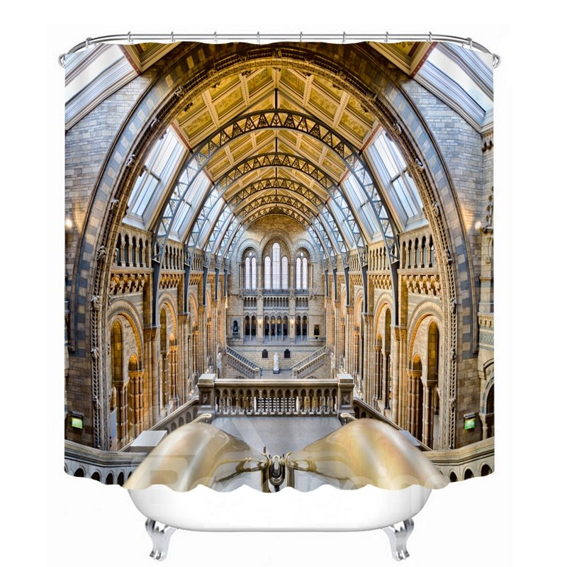 Spectacular Palace View 3D Printed Bathroom Waterproof Shower Curtain